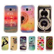"Fashion Popular Soft TPU Silicone Case Soft Plastic Cover For Samsung Galaxy J1 Ace J110 4.3"" With Flower Tiger Phone Cases"