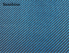 190gsm Blue  Twill Carbon Aramid Fiber Hybrid Fabric For Sport Products New-materials 3k Carbon Fiber Cloth Aramid Fiber