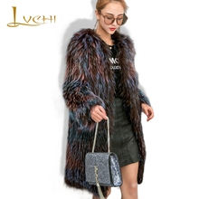 Buy LVCHI Gradient Natural Real Sliver Fox Overcoat Autumn Winter 2017 Brief Fashion Genuine Leather Coat Red Fox Noble Women Furs for $614.95 in AliExpress store