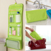Waterproof Hanging Storage Bag Makeup Kit Travel Toiletry Wash Cosmetic Pocket Travel Luggage  Packing Mesh Pouch Storage Bags