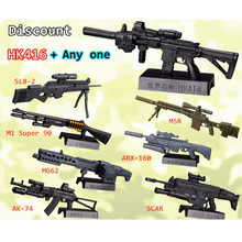 Free Shipping 2Pcs/set 14 style 1:6 1/6 Scale inch Action Figures Assault Rifle HK416 Series MG Bandai Gundam Christmas gifi D45(China)