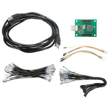 DIY 2 Players Arcade to USB Controller Adapter Joystick Connector Cable Wiring Kit For MAME Keyboard Encoder Board(China)