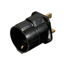 New Arrival High Quality 5x5x7cm 250V European Euro EU Sockets 2 Pin to UK 3 Pin Plug Adapter Travel Mains Adapter