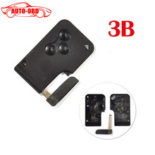 For Renault MEGANE 3 buttons remote control casing for smart card 3 button key blank case cover shell(China)