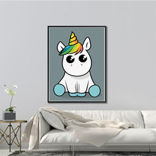 DIY Diamond Paintings Cartoon Unicorn handmade Diamond Paintings Cross Stitch Kits Diamond Embroidery New Patterns Rhinestones(China)