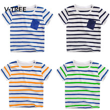 Buy V-TREE Baby Boys T Shirt Tops Cotton Short Sleeve Striped Car Dinosaur T Shirt Boys Kids Shirt Tops Tees Outwear for $3.58 in AliExpress store