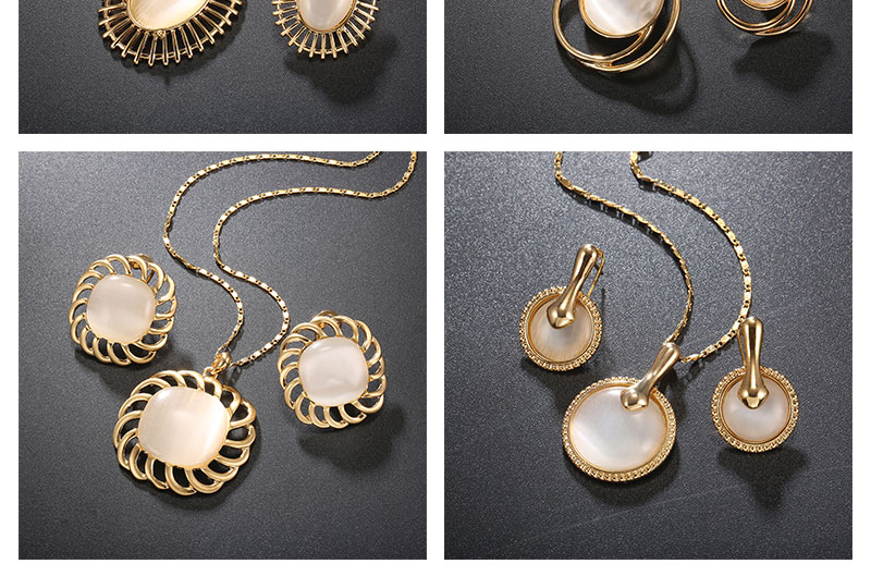 BTSETS Luxury Jewelry Sets Opal Women Dubai Jewelry Sets Round Party Vintage Turkish Jewelry Gold Color Indian Jewellery (5)