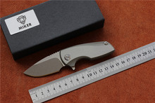 MIKER Malyshev Gnome folding knife pocket outdoor knife D2 stainless steel blade Ti handle Survival hunting tool free shipping