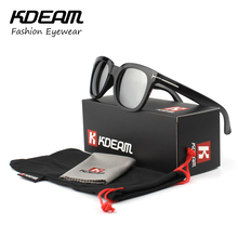 KDEAM Square Sunglasses for Men/Women Cool Black&Silver lens Brand Designer Oculos De Sol UV400 Protection With Original case