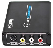 HDMI to AV Composite S-Video CVBS Video Converter HDMI to Composite 3RCA PAL/NTSC Switch for TV PC Blue-Ray DVD with adapter