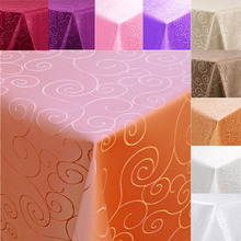 1M Dia Round Tablecloth Table Cover Cloth Elegant Flower Pattern Wedding Party Banquet Random Color