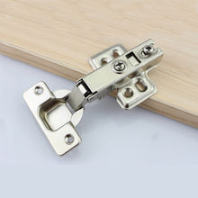 Stainless Steel No-Drilling Hole Cabinet Hinge Bridge Shaped Hinge Buffer Cabinet Cupboard Door Hinges Furniture Hardware(China)