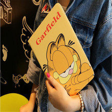 Cute cartoon SpongeBob Garfield Mario leather case for ipad mini 1 2 3 common TPU back tablet case brand quality with package(China)