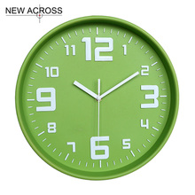 Gohide Brand New 1PCS 12-inch Clock Simple Bronzing Candy Color Large Hanging Clocks Home Decorative Kitchen Wall Clocks