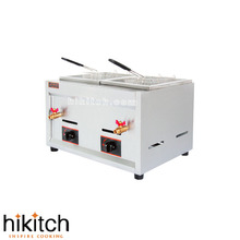Stainless steel kitchen equipment 16L *2 LPG gas donuts deep fryer. Natural gas type please leave a message same price(China)