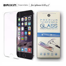 "Baixin 2.5D 0.3mm Top quality For iphone 6 6s 4.7"" explosion-proof Tempered glass screen protector For iphone 6s +Retail package"