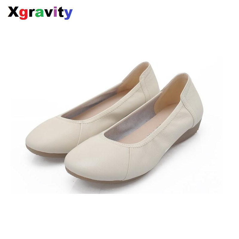 2017 New Autumn Comfortable Elegant Flats Shoes Round Toe Casual Woman Flat Shoes Simple Casual Woman Shoes Women Shoes C003-1