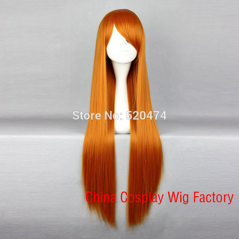 MCOSER Cosplay EVA-Asuka Anime Fashion Long Straight Orange Red Womens Lolita Synthetic Hair Party Wig<br><br>Aliexpress