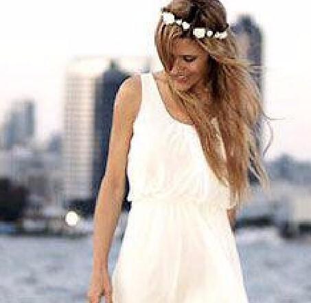2015-Summer-Style-Cheap-Short-Ivory-Chiffon-Casual-Beach-Wedding-Dress-Bridal-Gown-Custom-Made-Size (2)
