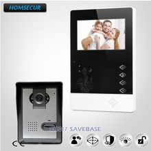 "HOMSECUR 4.3"" Wired Color Video Door Phone Door Bell Intercom Kit with IR Night Vision Outdoor Monitoring for Apartment"