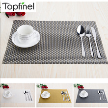 Top Finel Set of 8 PVC Decorative Weave Vinyl Placemats for Dining Table Linen Place Mat in Kitchen Cup Wine Mat Coaster Pad(China)