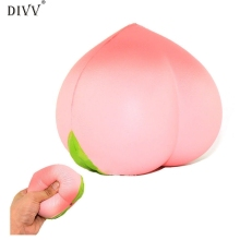 Hot Decoration Jumbo Soft Squishy Peach Charms Cream Scented Slow Rising Kids Toy Phone Strap