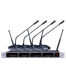 SOUNDPATH professional UHF wireless microphone mic system four channel UHF dynamic professional true diversity microphone(China)