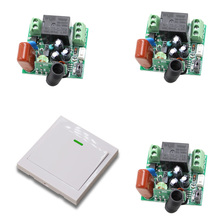 Remote Control Switch AC220V 3 Receiver Wall Transmitter Wireless Power Switch 315MHZ 433MHZ Radio Controlled Switch Relay