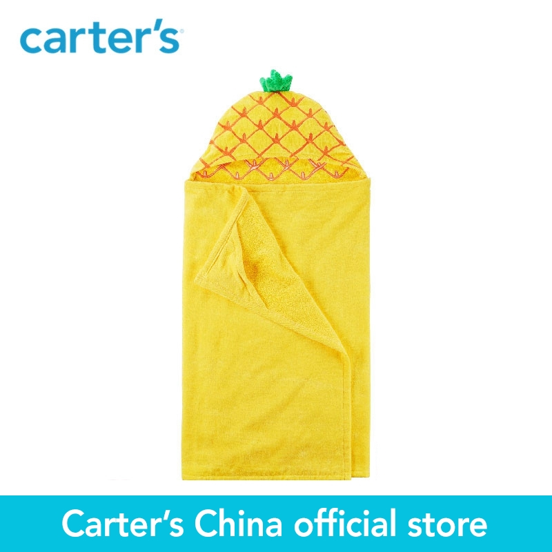 Carters 1-Piece baby children kids clothing girl Pineapple Hooded cotton terry Towel 250G051<br>