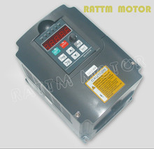 EU Delivery no tax! 2.2KW 380V 6A Spindle inverters Vector Control Frequency Converter 3HP Input  1 or 3 phase