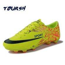 TOURSH 2017 Outdoor Lawn Soccer Shoes Men FG Football Shoes Boots Long Spikers Soccer Boot Cleats Trainer Sport Soccer Sneaker