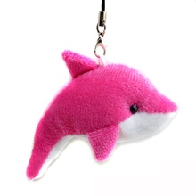 5 PCs Colorful Cartoon Dolphin Doll Phone Key Chain Bag Pendant Plush Toys Wedding Birthday Party Gift Toy