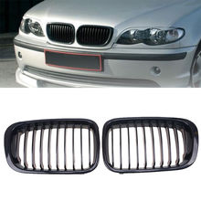 Black Car Front Hoods Kidney Sport Grille Grill For BMW 3-Series E46 Sedan 1998-2001 Pre-facelift Front Racing Grille Decoration