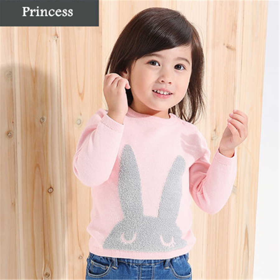 Girls Pullover Cotton Sweaters Kids Clothing Girls 2017 Fashion Cartoon Cotton Long Sleeve Girls Pullover Sweaters O-Neck 50W005<br><br>Aliexpress