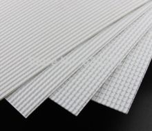 ABS37 2pcs ABS Plastic Styrene Plasticard Roof Tiles Sheet 215mm x 300mm White(China)