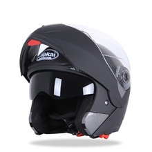 New Dual Lens Visors Flip Up Motocross Helmets Fashion Design Full Face Racing Helmets Warm Windproof Sand Dust Proof(China)