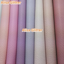 12pcs A4 21X29cm Litchi Grain PU Leather Embossed Classic Fabric Faux Synthetic Leather  fit for DIY accessories Sewing GM035B3