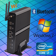 HYSTOU Broadwell Intel Mini PC Win 10 Core i7 5550U Fanless PC/ Desktop Computer With Dual LAN Gigabit NIC Mini-Itx Micro PC