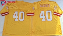 Embroidered Logo mike alstott 40 yellow throwback high school FOOTBALL JERSEY for fans gift cheap 1105-1(China)