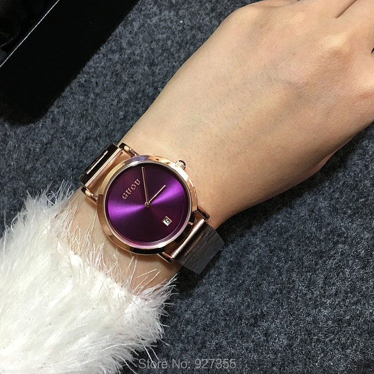 5 Colors Fashion Women Watch Lady Luxury Stainless Steel Rose Gold Wristwatch Men Women Calendar Quartz Dress Watches Hot Sale <br>