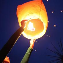 50 Paper Chinese Lanterns Sky Fly Candle Lamp for Wish Party Wedding White Color KongMing Wish Laterns