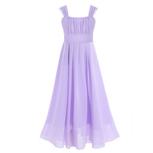 Girls Dress Kids Pageant Party Wedding Bridesmaid Ball Gown Prom Princess Formal Occassion floral dress Girl Chiffon Dresses
