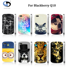 Unique Designs Cartoon Animal Dog Patterns White Hard Case For Blackberry Q10 Cases Free Shipping