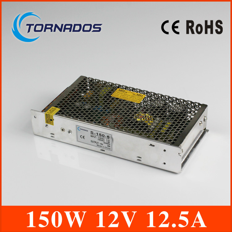free shipping 150w 12v  AC 110V 220V to DC 12V 12.5A 150W Voltage Transformer Switch Power Supply for Led Strip &amp; Led billboard<br>