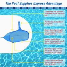 Deep Bag Pool Leaf Rake - Heavy Duty - Fine Mesh Net Picks up Small and Large Debris - Fits All Standard Pool Poles(China)