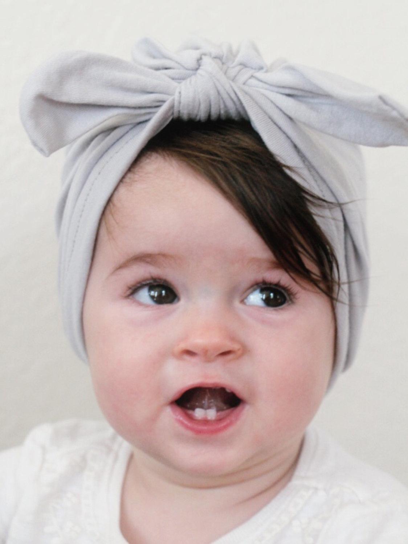 f5f9f6f46ae 2019 Fashion Newborn Infant Toddler Kid Baby Boy Girl Turban Bowknot ...