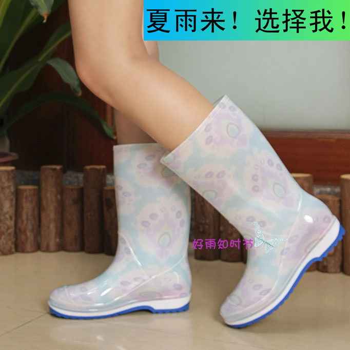Fashion Womens rain boots non-slip boots flat heel summer Gaotong rubber rain boots ankle rainboots<br><br>Aliexpress