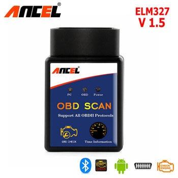 ELM327 Explorador Auto OBD2 para Android Torque ELM 327 Bluetooth V1.5 OBDII Del Coche Del Vehículo Herramienta de Diagnóstico de Escaneo FHOBD2