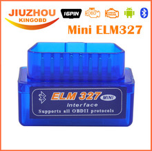 Fast Shipping Super Mini ELM327 OBD2 Bluetooth V2.1 327 ELM Mini OBD2 Auto Car Diagnostic Interface Scanner Accessories + CD(China)