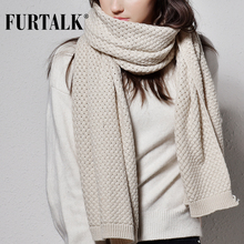 FURTALK winter women scarf luxury brand poncho knitted scarves pashmina female shawl for women(China)